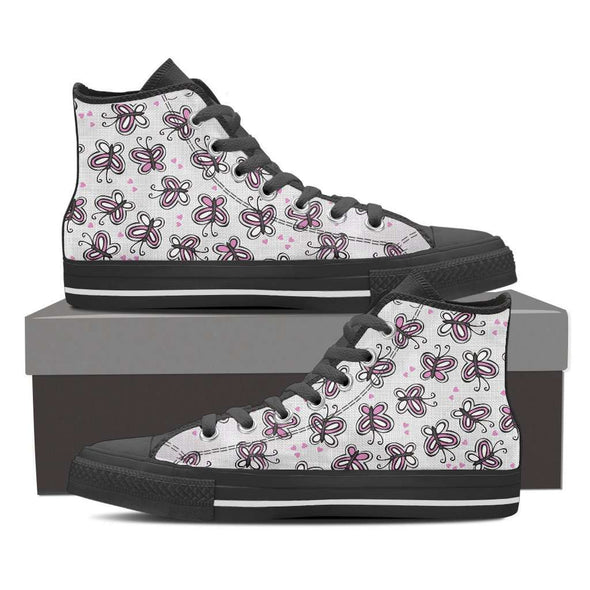 Women Butterfly Printed Canvas Shoes
