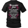 Limited Edition ***November Girl Don't Care About Money*** Shirts & Hoodies