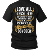 Limited Edition ***Love All Trust Few October Back Print*** Shirts & Hoodies