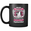 September Women Who Loves Pitbull Mug
