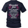 Limited Edition ***December Girl Don't Care About Money Back Print*** Shirts & Hoodies