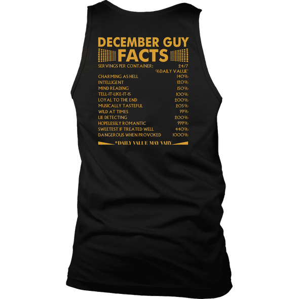 Limited Edition ***December Guy Facts Back Print*** Shirts & Hoodies