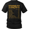 Limited Edition ***November Guy Facts Back Prints *** Shirts & Hoodies