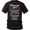 Limited Edition ***February Girl Don't Care About Money Back Print*** Shirts & Hoodies