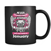 January Women Who Loves Pug Mug