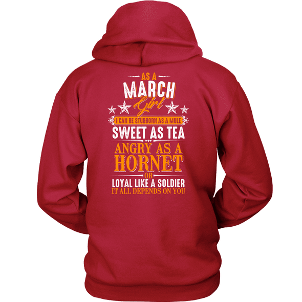 Limited Edition ***March Girl Sweet As Tea Back Print*** Shirts & Hoodies