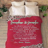 "Personalized Mother's Day Gift- ""This Blanket Is Wrapped With Hugs & Kisses"" For Grandpa/Grandma/Mom/Papa With Grand kids/Kids Name"