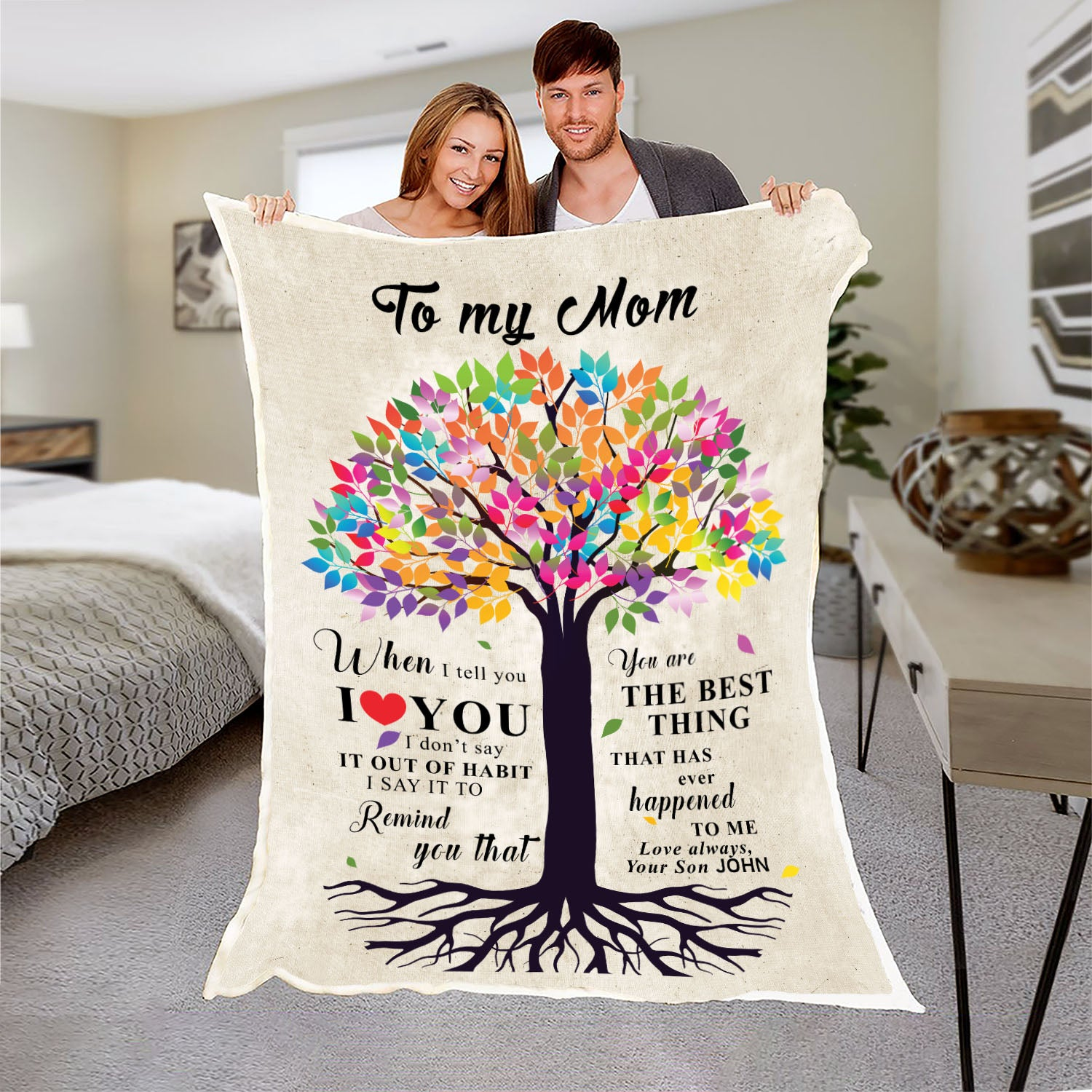 """To My Mom- You Are The Best Thing"" Customized Blanket For Mom"