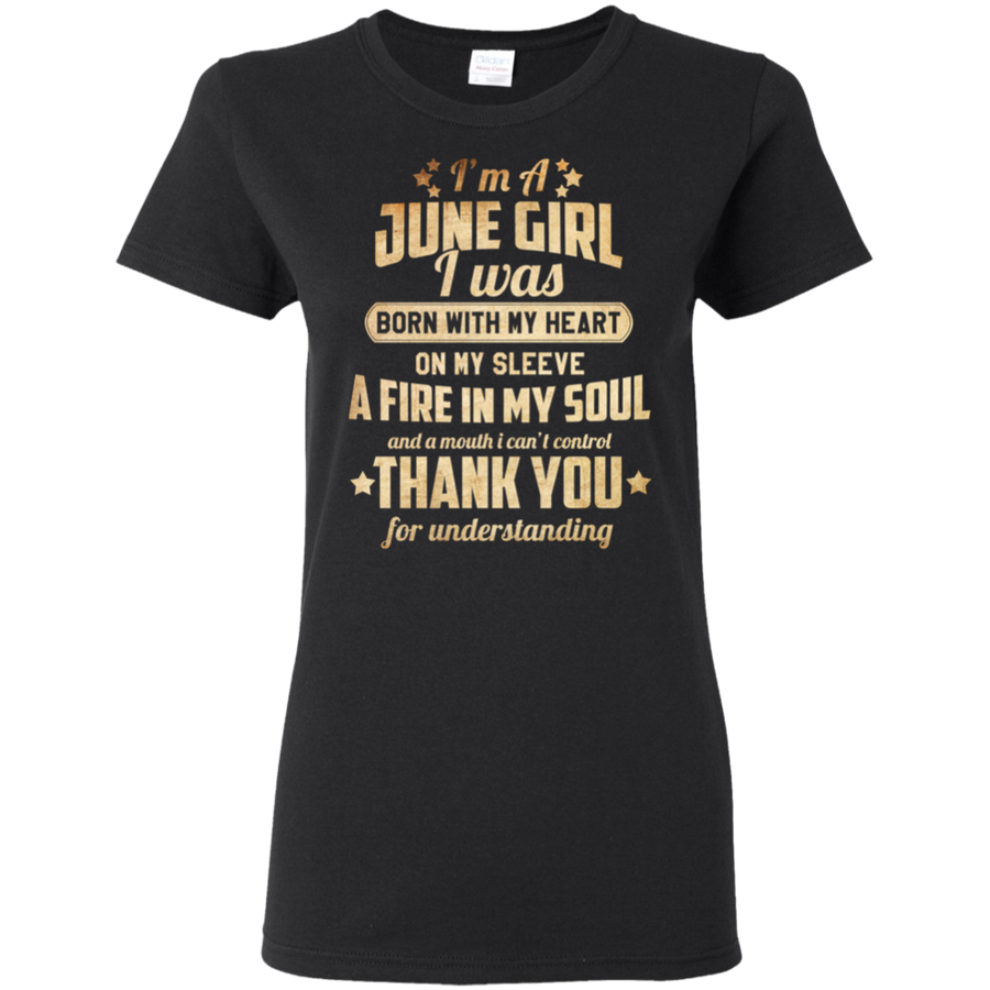 Newly Published **June Girl With Heart & Soul** Shirts & Hoodies
