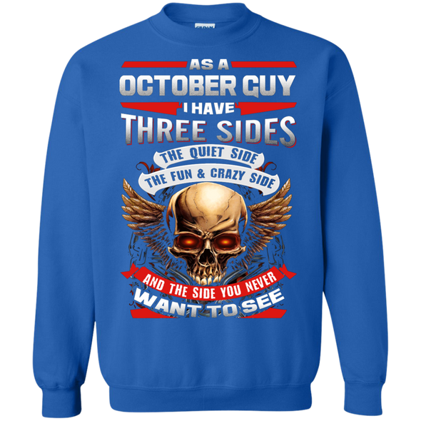 Limited Edition **October Born Guy With Three Side** Shirts & Hodiee