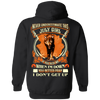 **Never Underestimate July Born Girl** Back Print Shirt & Hoodies