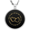 Limited Edition Love My Husband Circle Necklace