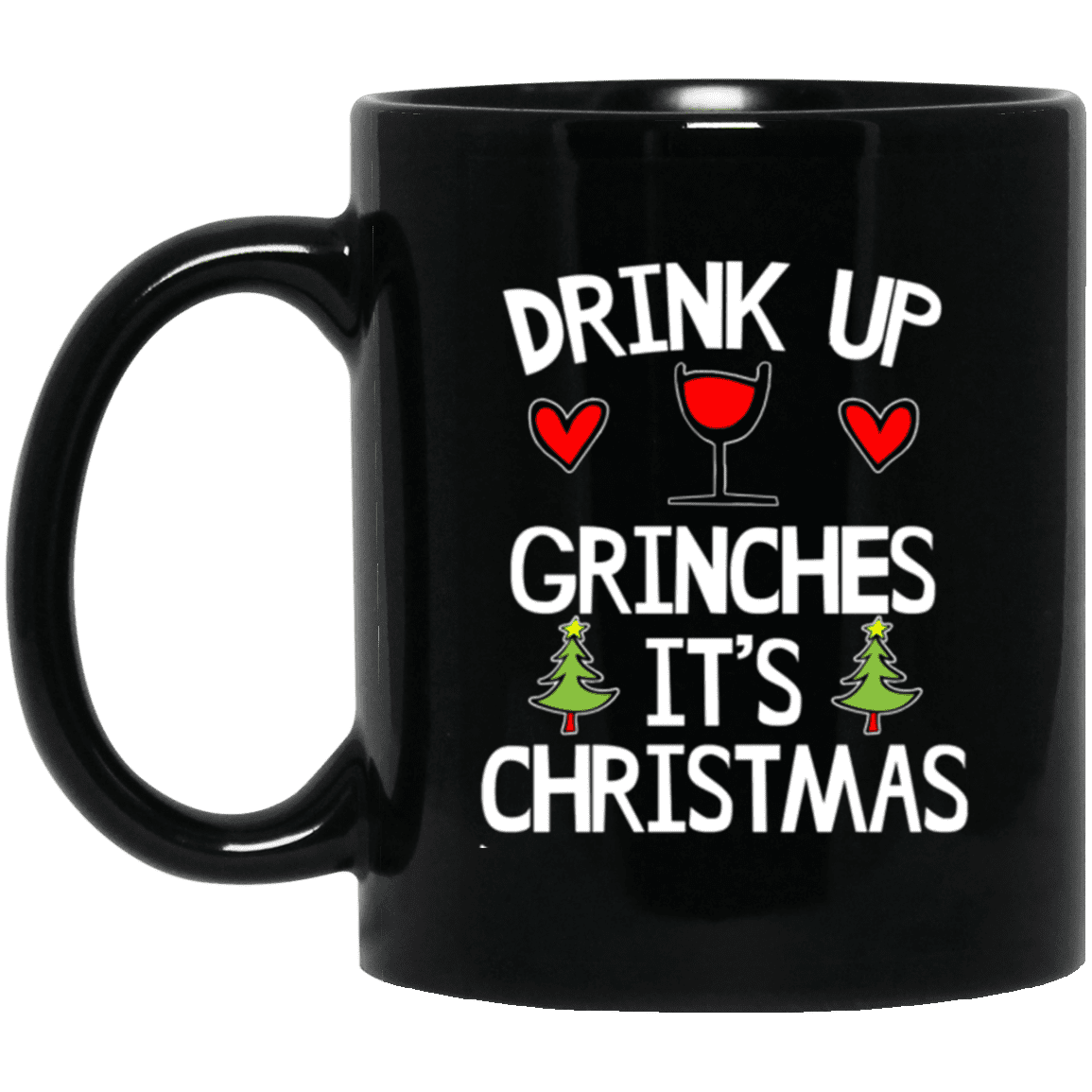 Limited Edition Christmas Drink Up Black Mug