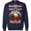 Limited Edition **November Born Guy With Three Side** Shirts & Hodiee