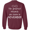 Limited Edition **Wizards Are Born In November** Shirts & Hoodies