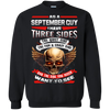 Limited Edition **September Born Guy With Three Side** Shirts & Hodiee