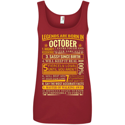 Latest Edition ** Legends Are Born In October** Front Print Shirts & Hoodies
