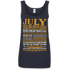 Limited Edition Born In July Shirts - Not Available In Stores 882L Anvil Ladies' 100% Ringspun Cotton Tank Top