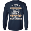 Limited Edition November Black King Shirts & Hoodies