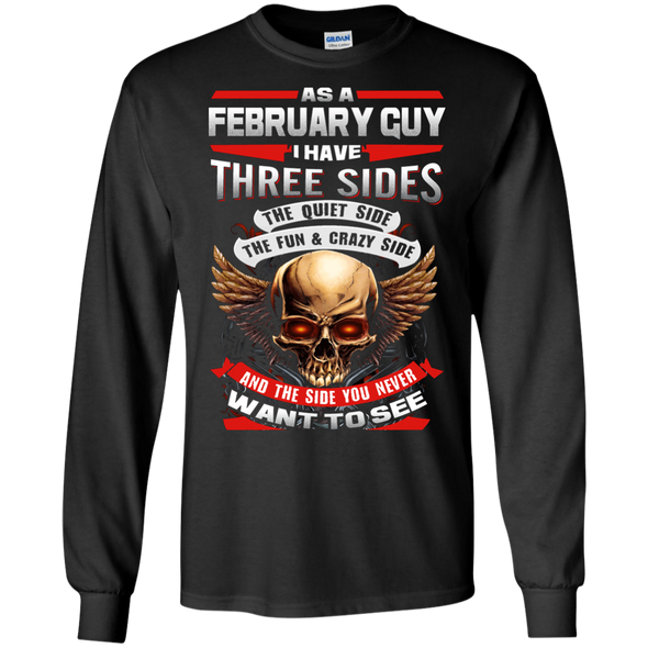 Limited Edition **February Born Guy With Three Side** Shirts & Hodiee