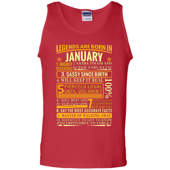 Latest Edition ** Legends Are Born In January** Front Print Shirts & Hoodies