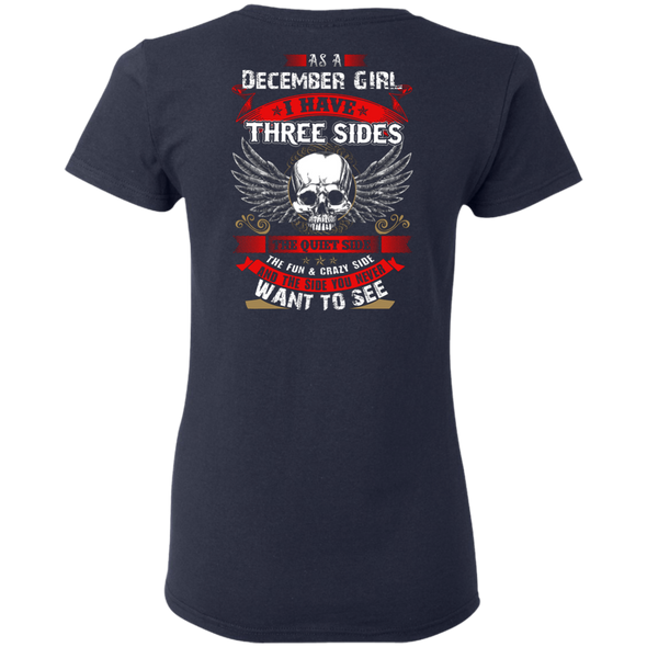 Limited Edition **December Girl With Three Sides** Shirts & Hoodies