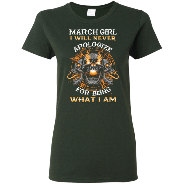 New Edition**March Girl Will Never Apologize** Shirts & Hoodies