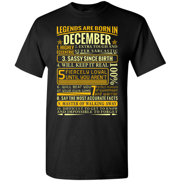 Latest Edition ** Legends Are Born In December** Front Print Shirts & Hoodies