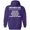 LIMITED EDITION NOVEMBER GIRL SHIRTS & HOODIES