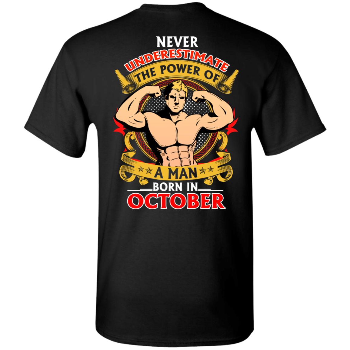 Limited Edition **Power Of A Man Born In October** Shirts & Hoodies