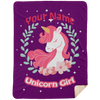 Limited Edition Personalized Unicorn Girl Blanket