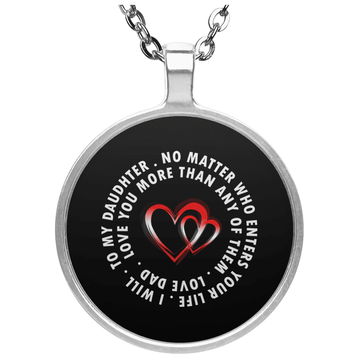 Limited Edition I Love My Dad Circle Necklace