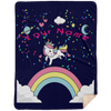 Limited Edition Personalized Unicorn Rainbow Blast Blanket