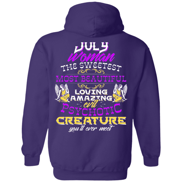Limited Edition July Sweet Women Back Print Shirts & Hoodies