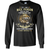 Newly Arrived **I Am A Nice Person** Men's Front Print Shirts & Hoodies