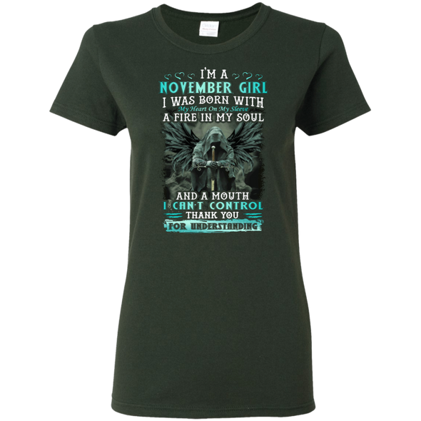Limited Edition **November Girl Born With Fire In A Soul** Shirts & Hoodie