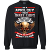 Limited Edition **April Born Guy With Three Side** Shirts & Hodiee