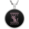 Limited Edition Christmas Cat Circle Necklace