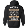 Limited Edition March Black King Shirts & Hoodies