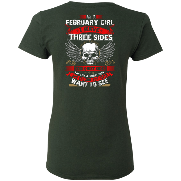 Limited Edition **February Girl With Three Sides** Shirts & Hoodies