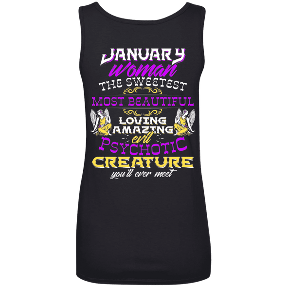 Limited Edition January Sweet Women Back Print Shirts & Hoodies