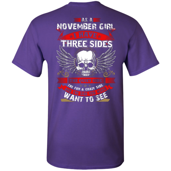 Limited Edition **November Girl With Three Sides** Shirts & Hoodies