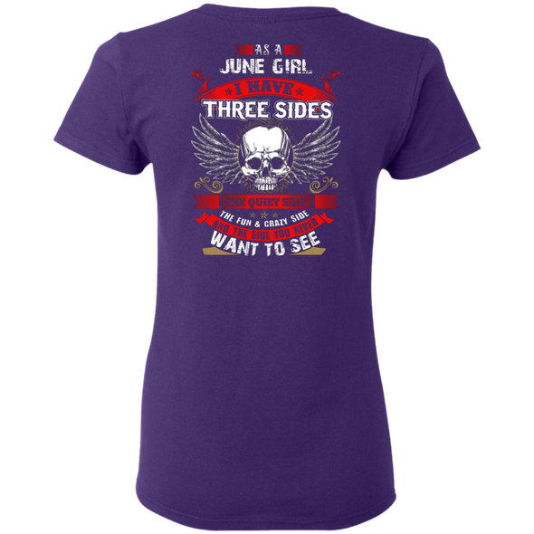 Limited Edition **June Girl With Three Sides** Shirts & Hoodies