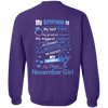 Limited Edition **November Girlfriend Biggest Comfort** Shirts & Hoodies