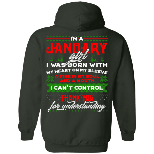 LIMITED EDITION JANUARY GIRL CHRISTMAS BACK PRINT SHIRTS & HOODIES