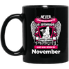 November Women Who Loves Pitbull Mug