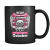 October Women Who Loves Pug Mug