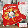 Personalized Grandma/Nana/Papa Photo Blanket With Grand Kids/Kids Names