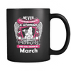 March Women Who Loves Pitbull Mug