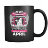 April Women Who Loves Pitbull Mug